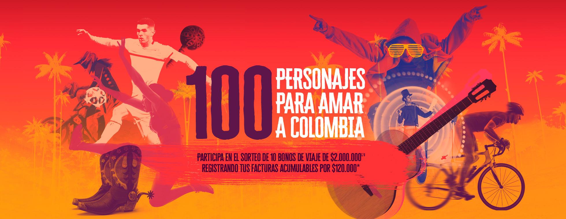 100 PERSONAJES PARA AMAR EN COLOMBIA